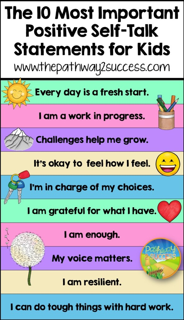 10 most important positive self-talk statements for kids