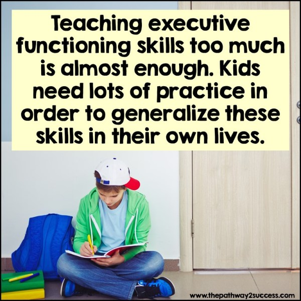 Teaching executive functioning skills too much is almost enough.