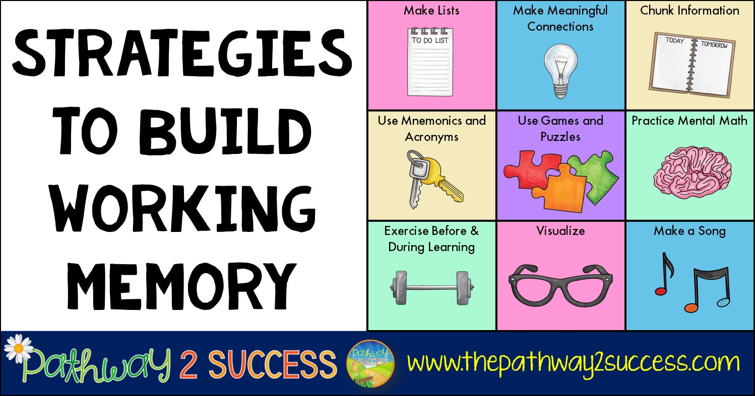 Strategies to Build Working Memory - The Pathway 2 Success