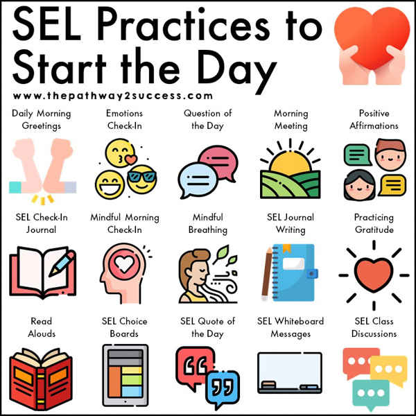 SEL practices to start the day! Use these fun,engaging techniques to integrate social-emotional learning in your classroom.