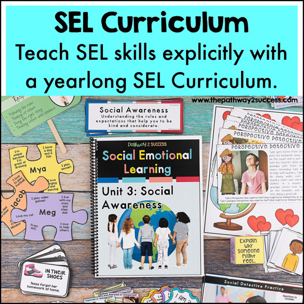 SEL Curriculum. Start each day with lessons from a complete yearlong SEL Curriculum to teach skills for empathy, problem-solving, conflict resolution, friendships, decision-making and lots more. This curriculum is designed specifically for elementary students to learn SEL skills in a fun, meaningful, and interactive way.