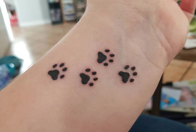 Tattoo Dog Paw