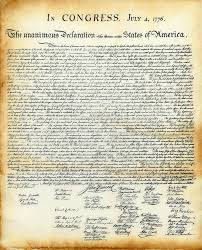 Gutsy image in printable declaration of independence text