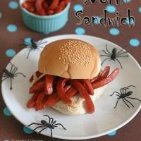 Halloween WORM Sandwich