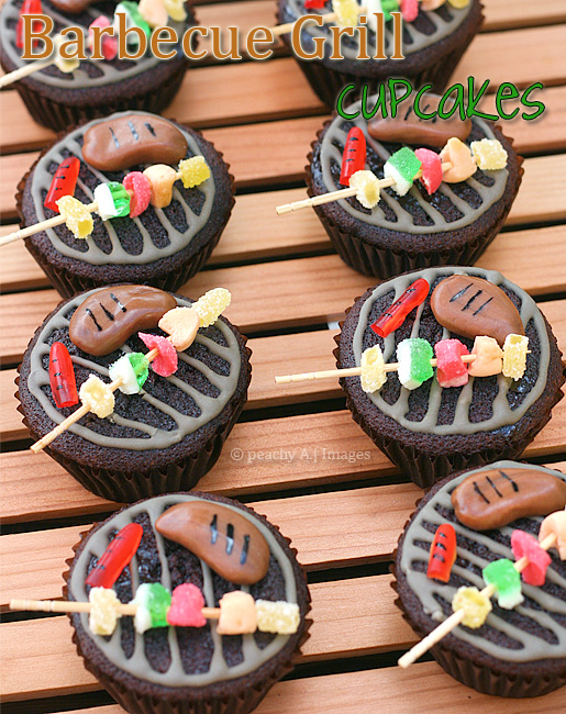Barbecue Grill Cupcakes The Peach Kitchen