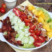 Tropical Cobb Salad with Garlic Dressing