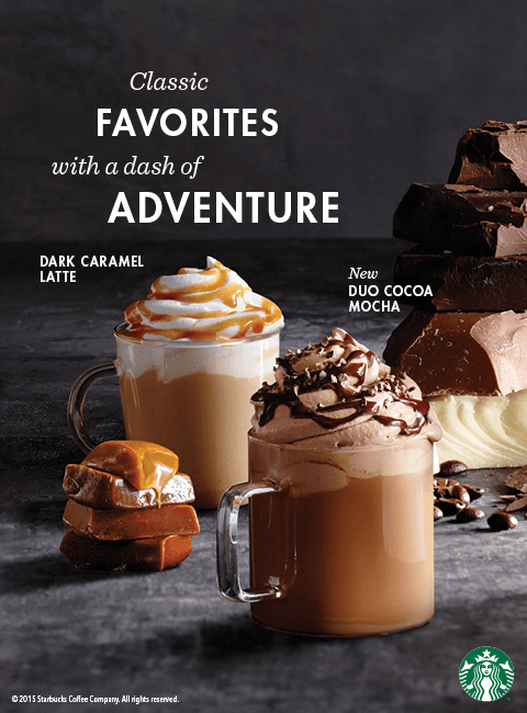 Starbucks Dark Caramel Latte New Food Items And New