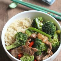 Beef Teriyaki Stir Fry Quinoa Bowl