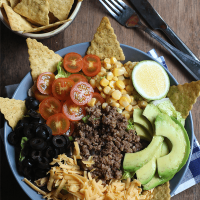 Taco Salad (From Leftover Beef Tacos)