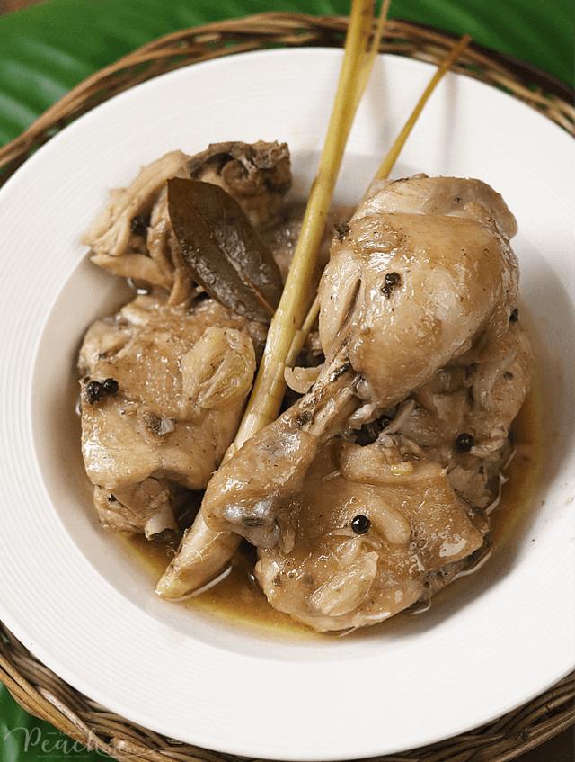 Chicken Adobo sa Puti with Tanglad