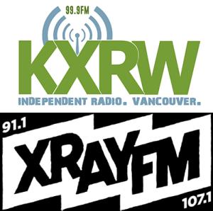 KXRW and XRAY.FM logos