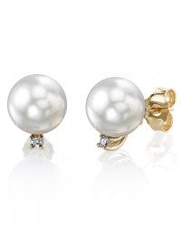 White South Sea Pearl & Diamond Sasha Earrings