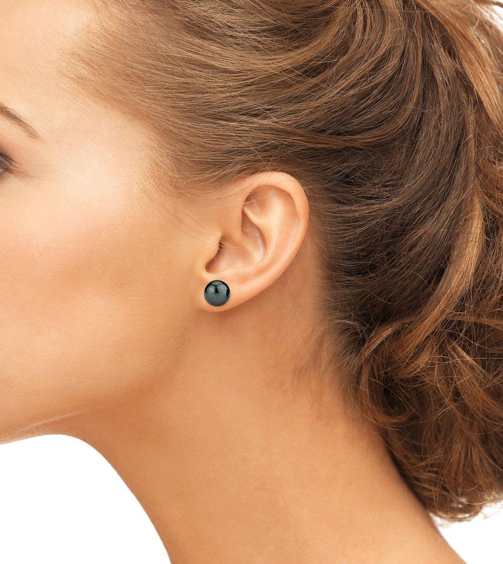 10mm Tahitian South Sea Pearl Stud Earrings