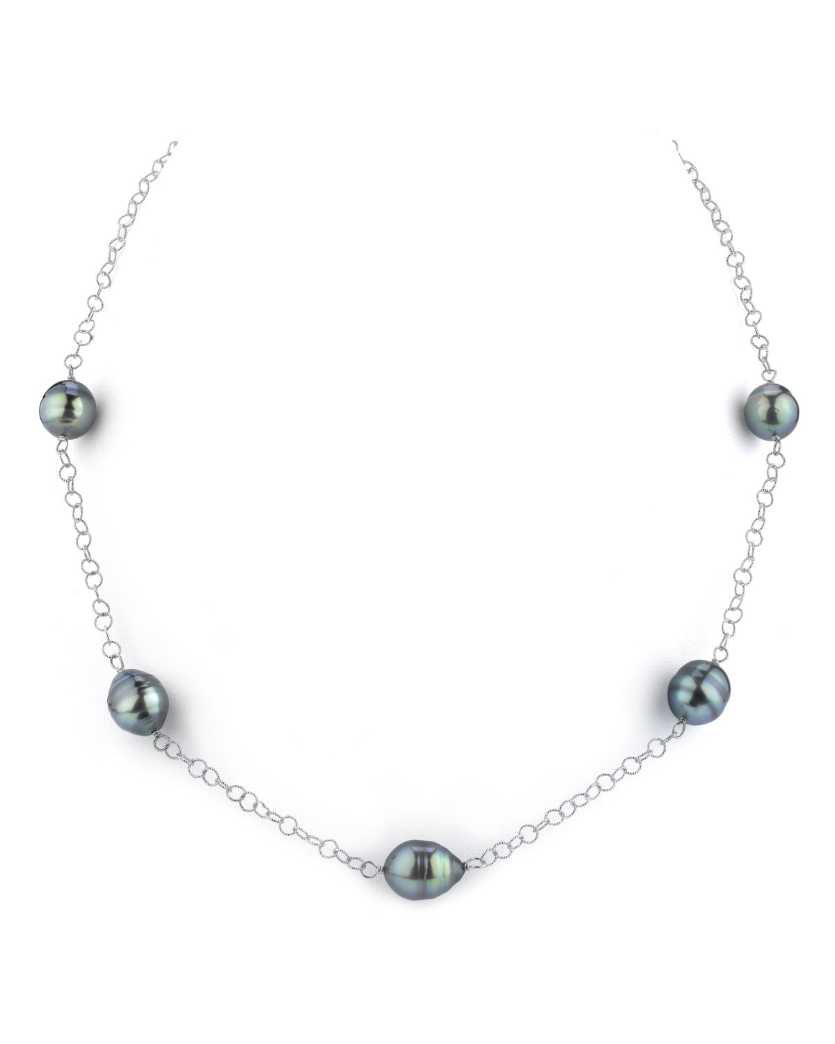 9-10mm Tahitian South Sea Baroque Pearl Tincup Necklace
