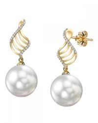 South Sea Pearl & Diamond Jenny Earrings