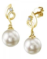 Freshwater Pearl & Diamond Symphony Earrings