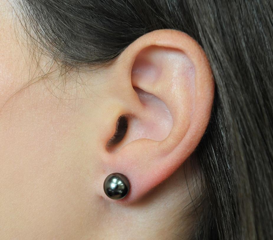 8mm Tahitian South Sea Pearl Stud Earrings