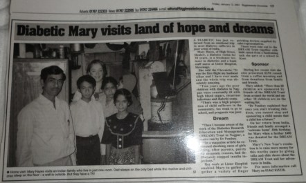 Diabetic Mary visits land of hope and dreams