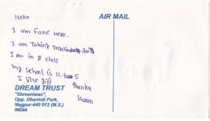 Thankyou letter from Karan