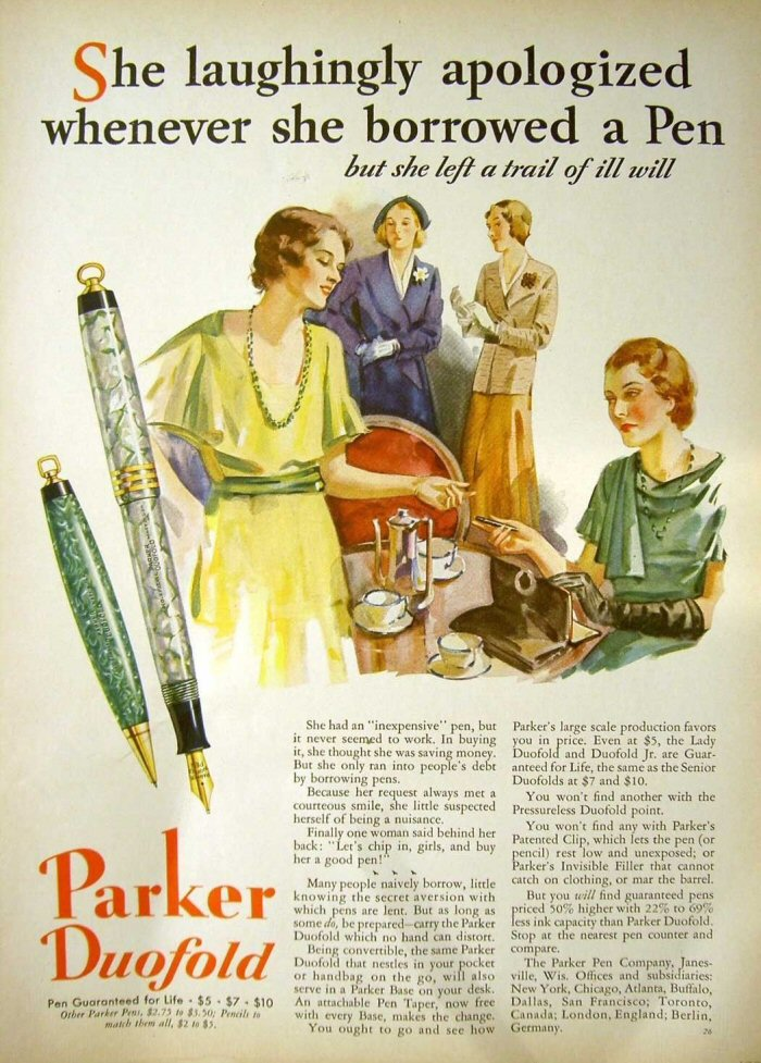 Category Pen Ads of Yesteryear  Vintage Fountain Pens