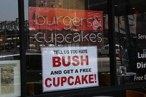 Hate Bush, get cupcake