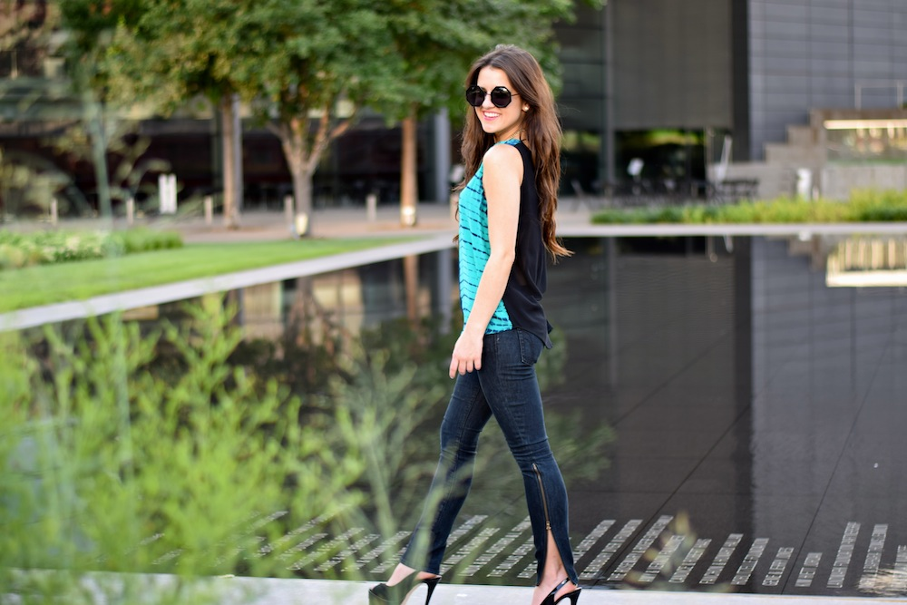 Blue Top and Skinny Jeans