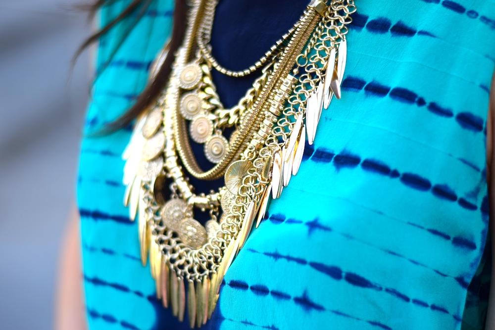 Boho Gold Coin Necklace