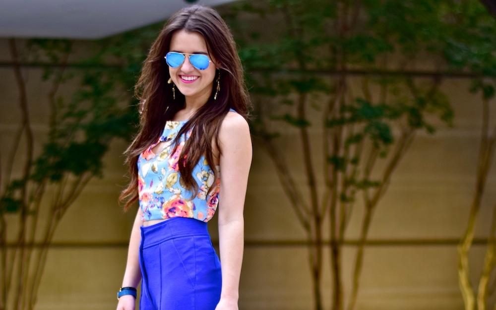 high waist blue pants