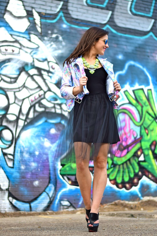 tulle dress black