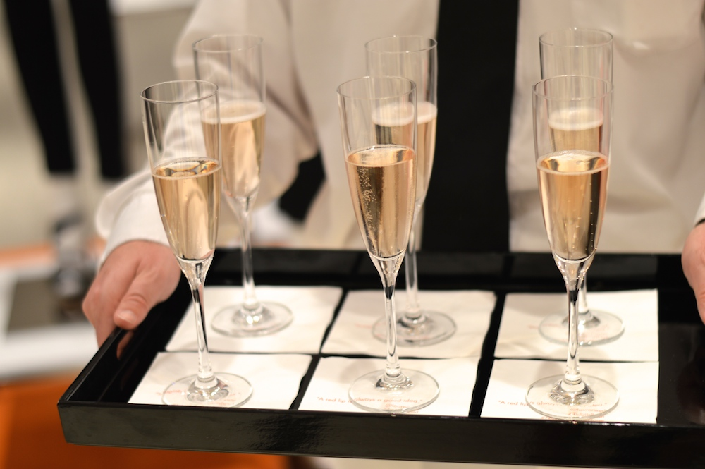 Champagne Flutes Tray