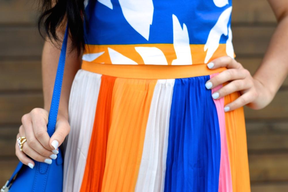 Multi-Color Pleated Skirt
