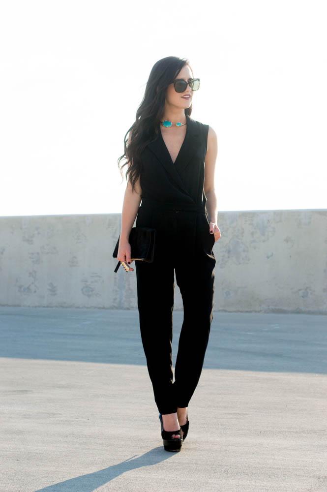 armani exchange black jumpsuit-7