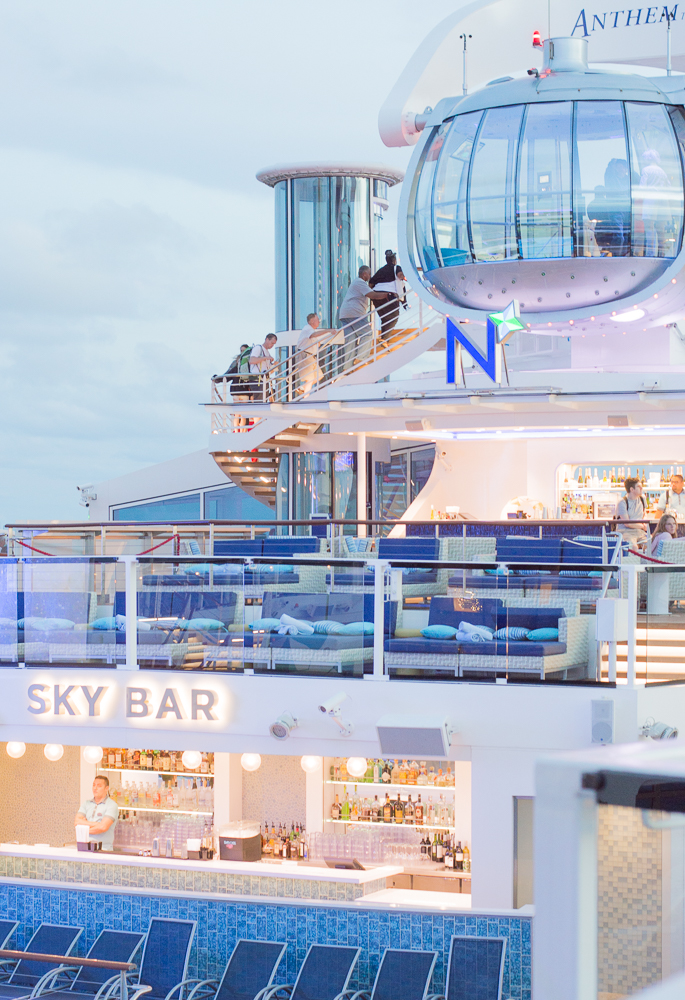 royal carribbean anthem of the seas deck and northstar