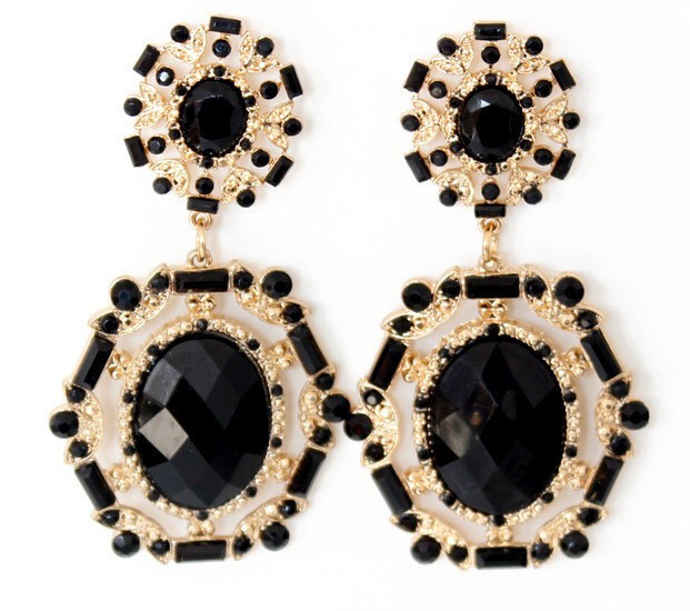 Onyx Statement Earrings • The Perennial Style | Dallas Travel And Lifestyle  Blog