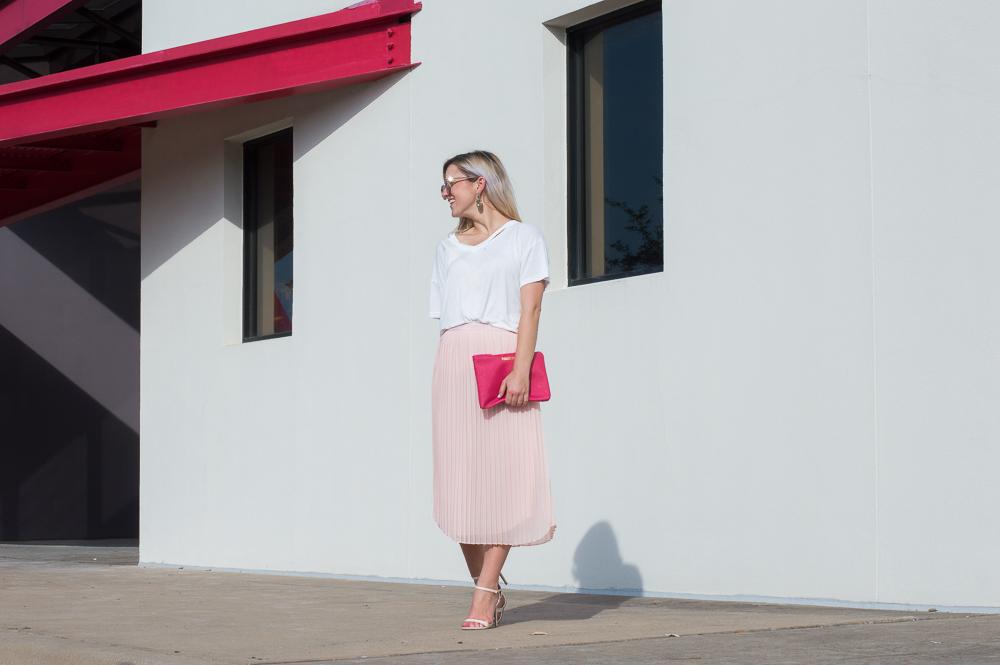 blush pleated skirt-17