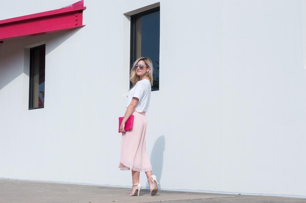 blush pleated skirt-3