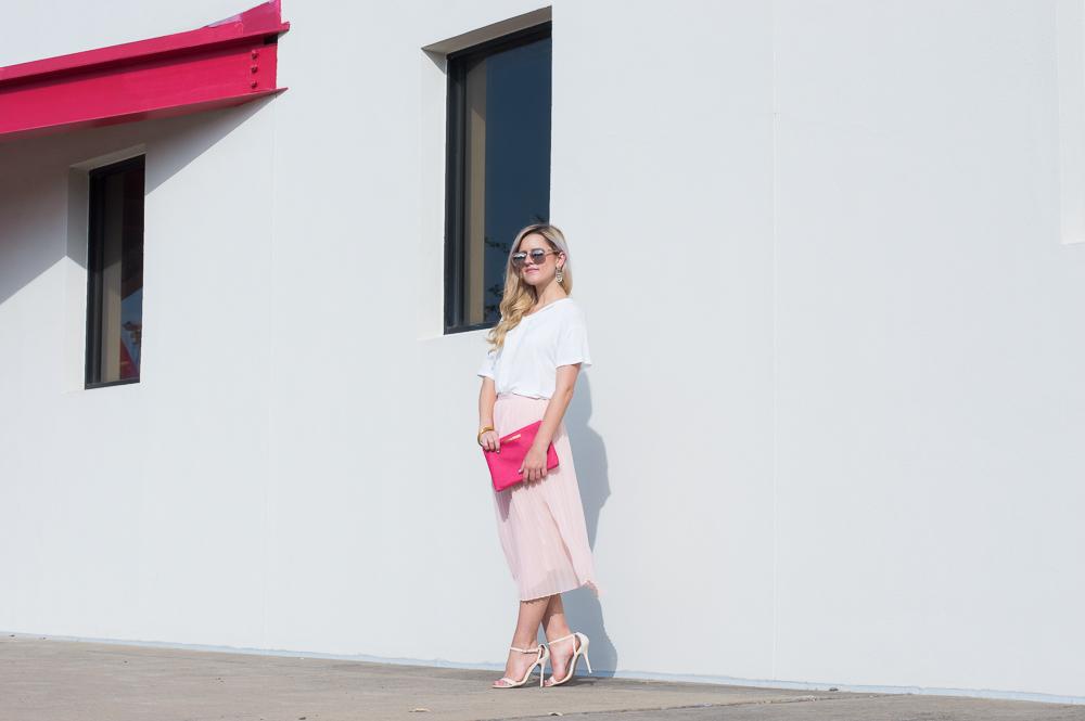 blush pleated skirt-5