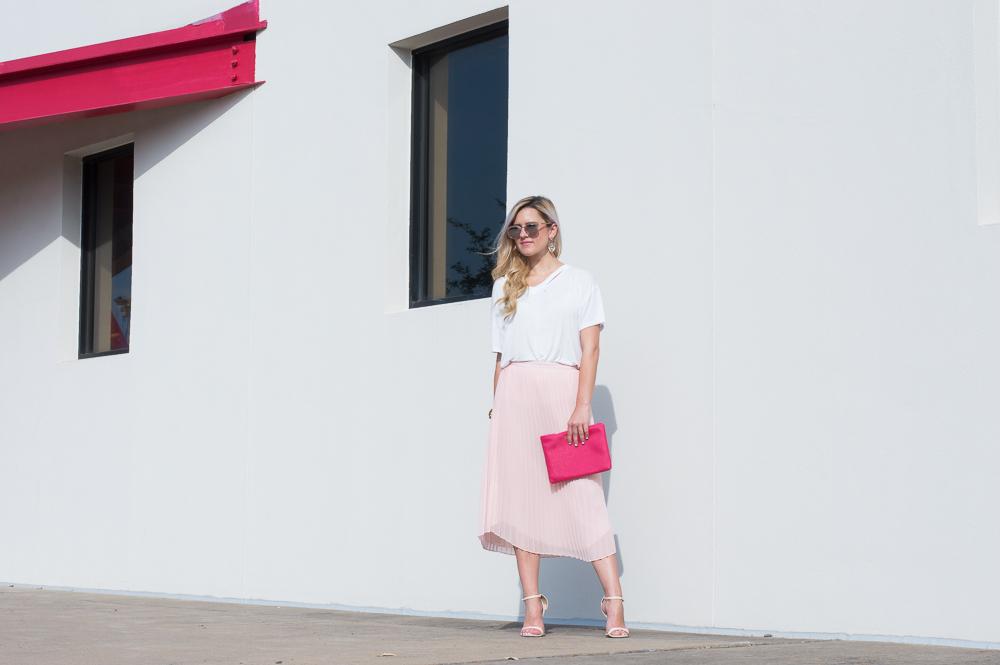 blush pleated skirt-6