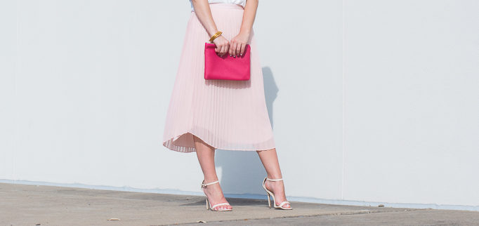 blush pleated skirt-8