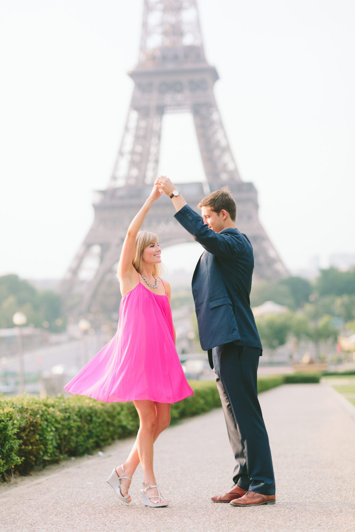 French Grey Eiffel Tower Twirling Photography