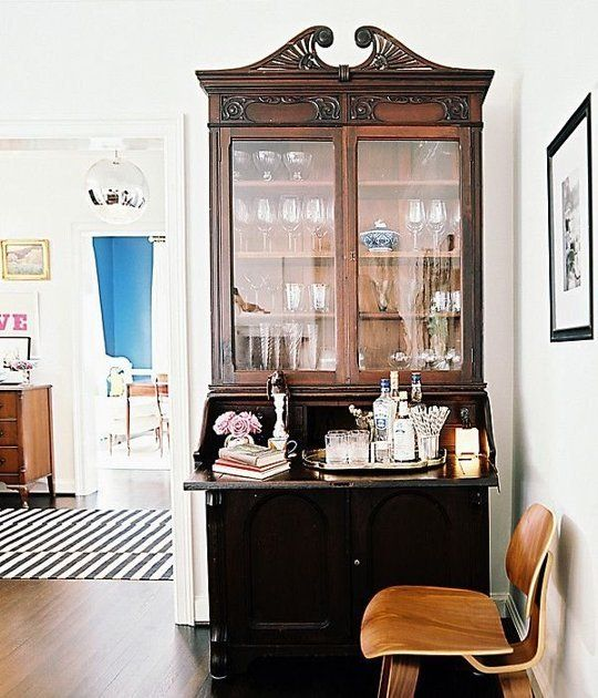 via how-to-make-antique-hutch-look-modern - How To Make Antiques Look Modern • The Perennial Style