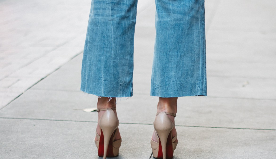 Raw Hem Denim Christian Louboutin