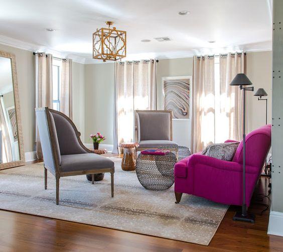 Via Antelope Rug Fuschia Pink Modern Decor