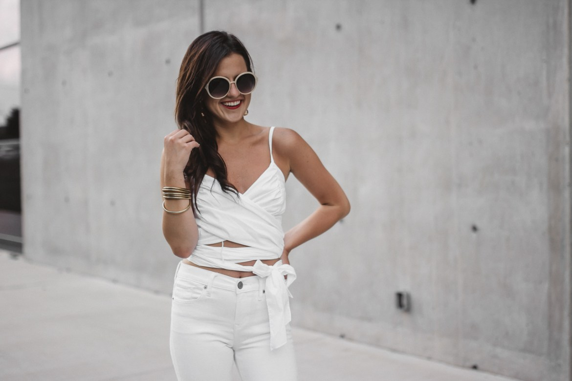 White Crop Top White Flared Jeans (20 of 23)