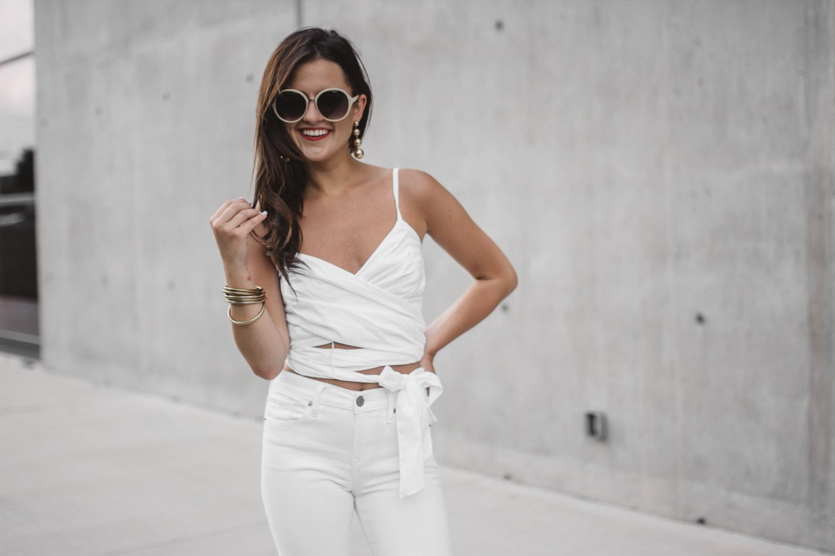 White Crop Top White Flared Jeans (21 of 23)