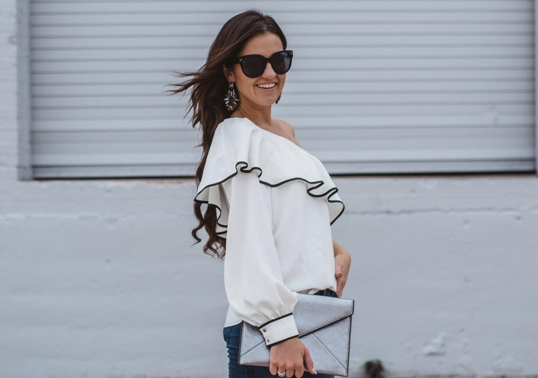 Amanda Uprichard One Sleeve Blouse-19