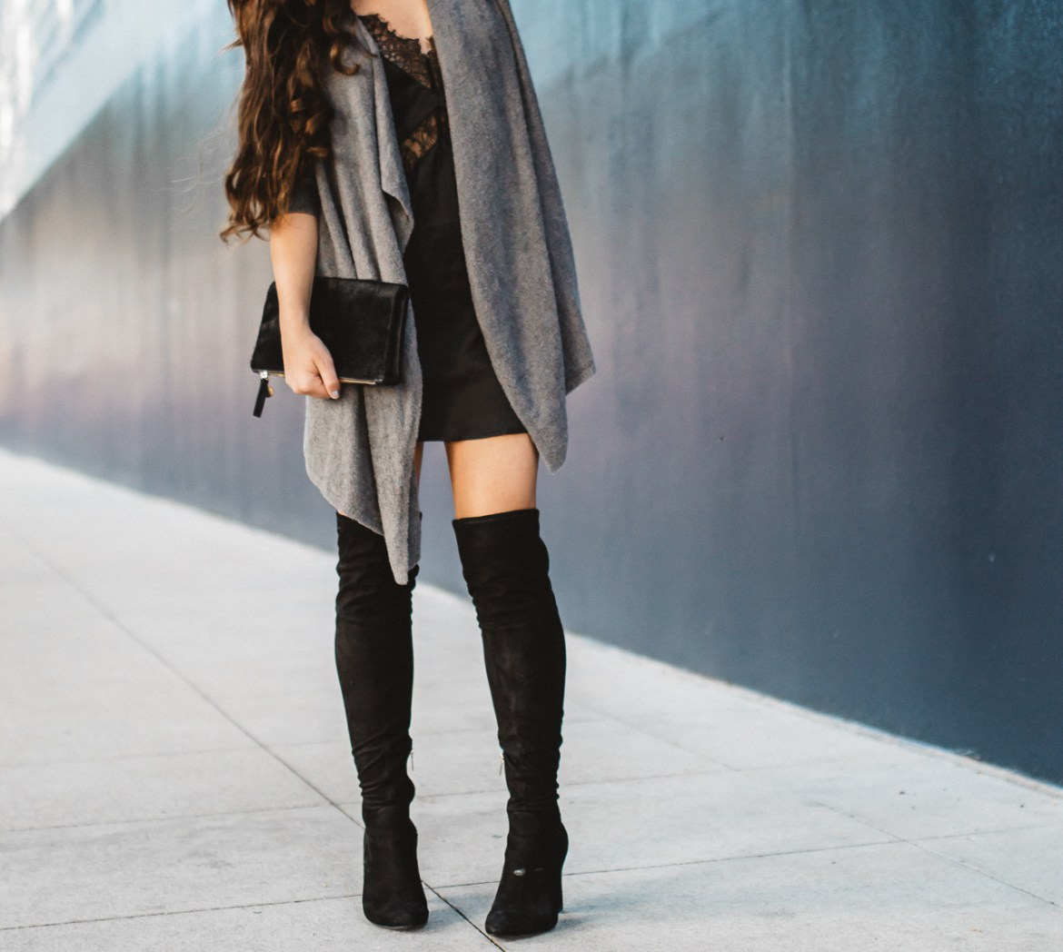 Lingerie Slip Dress With Sweater-26
