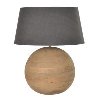 Large Round Wooden Ball Lamp & Shade at The Perfect ...