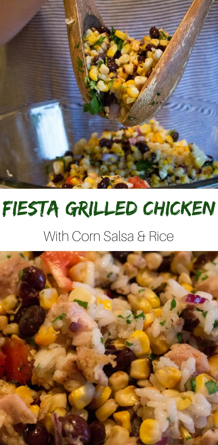 Fiesta Grilled Chicken With Corn Salsa & Rice