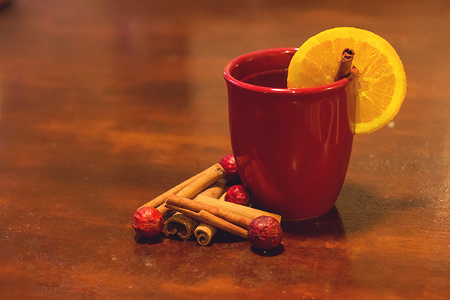 Spiced Cranberry and Orange Cider in mug